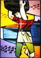 SWISS COMMEMORATIVE STAINED GLASS PANEL.