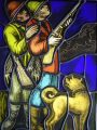 FLEMISH STAINED GLASS PANEL