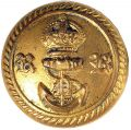 KINGS CROWN, ROYAL NAVAL RESERVE TUNIC BUTTON
