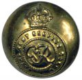 GEORGE VI TUNIC BUTTON. THE ROYAL ARMY SERVICE CORP